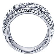 14k White Gold Souviens Twisted Ladies' Ring angle 2
