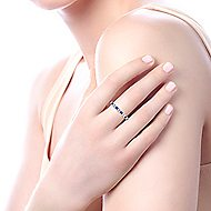 14k White Gold Stackable Eternity Ladies' Ring angle 5