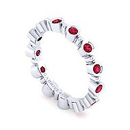 14k White Gold Stackable Eternity Ladies' Ring angle 3