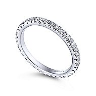 14k White Gold Stackable Eternity Stackable Ladies' Ring angle 3