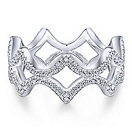 14k White Gold Stackable Eternity Stackable Ladies' Ring angle 1