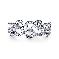14k White Gold Stackable Eternity Stackable Ladies' Ring