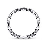 14k White Gold Stackable Ladies' Ring angle 2