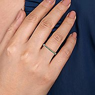 14k White Gold Stackable Ladies' Ring
