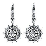 14k White Gold Starlis Drop Earrings