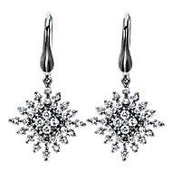 14k White Gold Starlis Drop Earrings angle 1