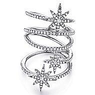14k White Gold Starlis Statement Ladies' Ring