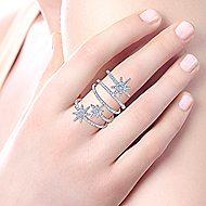14k White Gold Starlis Statement Ladies' Ring angle 5