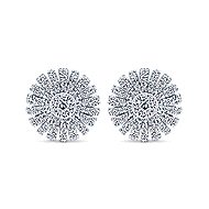 14k White Gold Starlis Stud Earrings