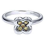 14k White Gold Trends Fashion Ladies' Ring angle 1