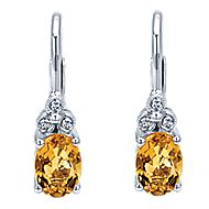 14k White Gold Victorian Drop Earrings
