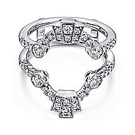 14k White Gold Victorian Enhancer Anniversary Band angle 1