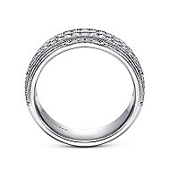 14k White Gold Victorian Fancy Anniversary Band angle 2