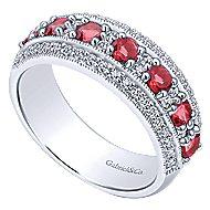 14k White Gold Victorian Fashion Ladies' Ring