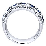 14k White Gold Victorian Fashion Ladies' Ring angle 2