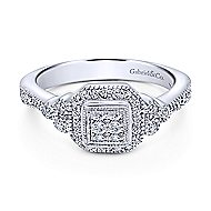 14k White Gold Victorian Fashion Ladies' Ring angle 1