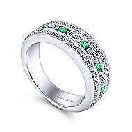 14k White Gold Victorian Fashion Ladies Ring