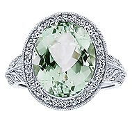 14k White Gold Victorian Fashion Ladies' Ring angle 4