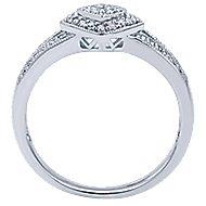 14k White Gold Victorian Fashion Ladies' Ring angle 2