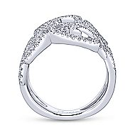 14k White Gold Victorian Twisted Ladies' Ring