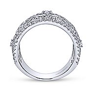 14k White Gold Victorian Wide Band Ladies' Ring angle 2
