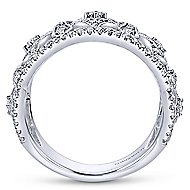 14k White Gold Victorian Wide Band Ladies' Ring