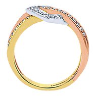 14k Yellow And White And Rose Gold Eternal Love Fashion Ladies' Ring angle 2