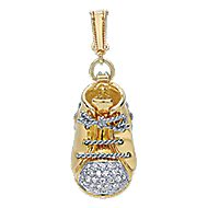 14k Yellow And White Gold Boca Charms Charm Pendant