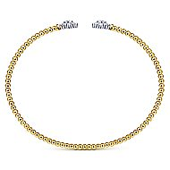 14k Yellow And White Gold Bujukan Bangle