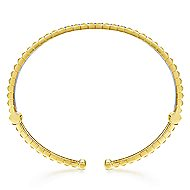 14k Yellow And White Gold Contemporary Bangle
