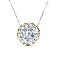 14k Yellow And White Gold Flirtation Fashion Necklace angle 1