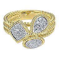 14k Yellow And White Gold Hampton Classic Ladies' Ring angle 1