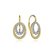 14k Yellow And White Gold Hampton Drop Earrings