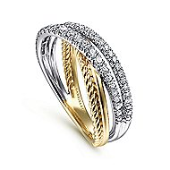 14k Yellow And White Gold Hampton Fashion Ladies' Ring