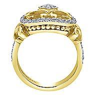 14k Yellow And White Gold Mediterranean Fashion Ladies' Ring angle 2