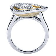 14k Yellow And White Gold Souviens Fashion Ladies' Ring angle 2