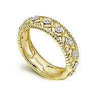 14k Yellow And White Gold Stackable Ladies' Ring angle 3
