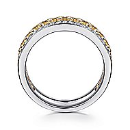14k Yellow And White Gold Victorian Wide Band Ladies' Ring angle 2
