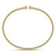 14k Yellow Gold Bujukan Bangle angle 3