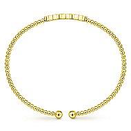 14k Yellow Gold Bujukan Bangle