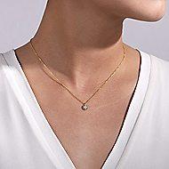 14k Yellow Gold Bujukan Fashion Necklace angle 3