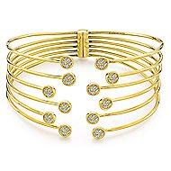 14k Yellow Gold Byblos Bangle angle 1