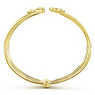 14k Yellow Gold Byblos Bangle angle 3