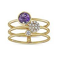 14k Yellow Gold Constellations Fashion Ladies' Ring