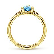 14k Yellow Gold Constellations Fashion Ladies' Ring angle 2
