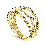 14k Yellow Gold Constellations Fashion Ladies' Ring