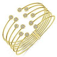 14k Yellow Gold Contemporary Bangle