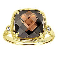 14k Yellow Gold Contemporary Classic Ladies' Ring