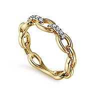 14k Yellow Gold Contemporary Fashion Ladies Ring