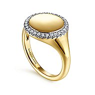 14k Yellow Gold Contemporary Fashion Ladies' Ring